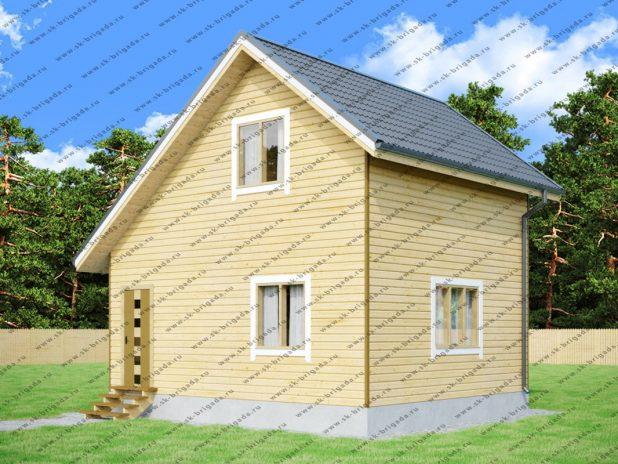 Строительство дачных домов 6х7, проекты под ключ