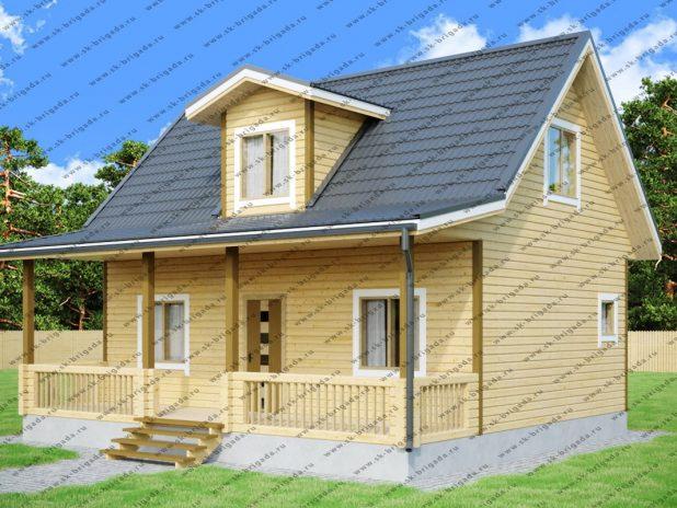 Дом из бруса 6х9 с террасой под ключ