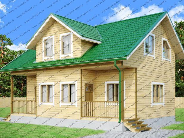 Деревянный дом 7х10 из бруса под ключ