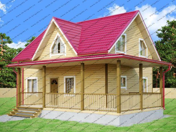 Дом с Г-образной террасой под ключ