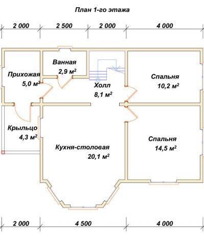 Планировка 1 этажа 7х10 метров