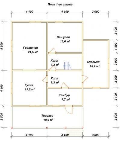 Планировка 1 этажа 10х11 метров