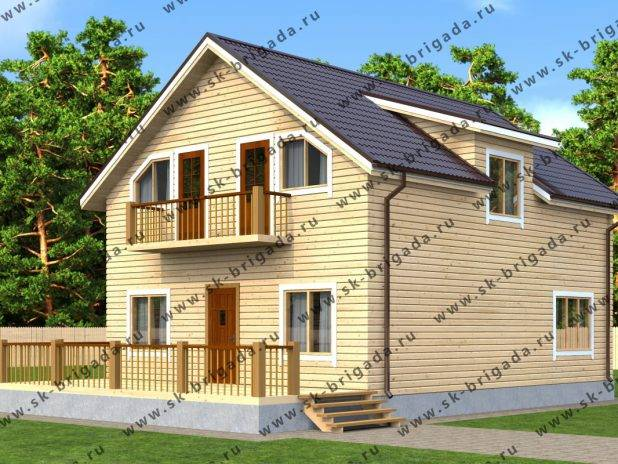 Проект дома 8х10 с отличной планировкой под ключ