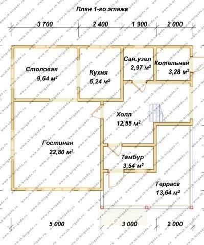 Планировка 1 этажа 9х10 метров